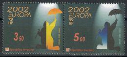 (!)  EUROPA CEPT De 2002  Thème Du Cirque  CROATIE  Y&T 575/576 Neuf(s) ** Mnh - 2002