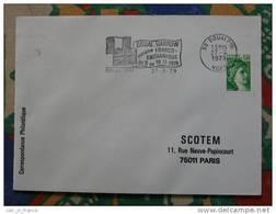 Flamme Douai Semaine Franco Britannique 1979 - Dpt 59 Nord - Flamme Sur Lettre Postmark On Cover (ref D834) - Mechanical Postmarks (Advertisement)