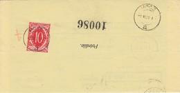 Slovenia SHS 1920 Postal Money Order With SHS Postage Due Stamp, Postmark HOČE - Slovenia
