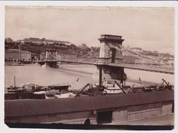Grand PHOTO ALOIS BEER KLAGENFURT Le Pont Des Chaînes De BUDAPEST - Hungría