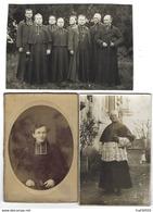 PRÊTRES - CURÉS - Lot De 6 Photos Anciennes - Photos