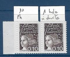 """FR Variété YT 3086 """" Luquet  0.10F Noir """" Neuf** Sans Phosphore TAN - Variétés: 1990-99 Neufs"""