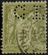 -Sage N°82 Type II.(CAD) O    PERFORE C L.( Credit Lyonnais ) - 1876-1898 Sage (Tipo II)