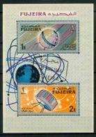 Fujeira 1966 SG MS84 Bloc Feuillet 100% Réalisations Usé Space - Fudschaira