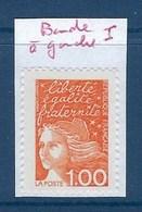 """FR Variété YT 3089a """" Luquet  1F.00 Orange """" Neuf** Bde Phosphore à Gauche - Variétés: 1990-99 Neufs"""