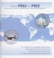 Polaire Néozélandais, émission Conjointe Ross (B8) Groenland (from Pole To Pole) Dans Une Plaque Spéciale - Neufs