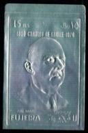 Fujeira  Charles De GAULLE Timbre Argent Format 77 X 120 Mm MNH - De Gaulle (General)
