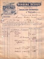 SUISSE - VERSOIX GENEVE - CONFISERIE - BONBONS DESHUS - DEGAILLIER DESHUSSES S.A. - 1914 - Suiza