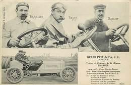 GRAND PRIX DE L'A.C.F  - CIRCUIT DE LA SEINE INFERIEURE - BARILLIER - BARAS - BABLOT - Other