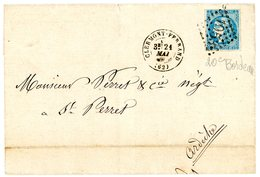 20C BORDEAUX SUPERBE SUR LST 1871 PUY DE DOME CLERMONT FERRAND GC T17 - Marcophilie (Lettres)