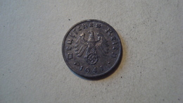 MONNAIE ALLEMAGNE 1 REICHSPFENNIG 1941 F - [ 4] 1933-1945 : Third Reich