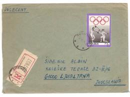 IZ743    Poland 1975 Sosnowlec Registered Cover To Ljubljana Jugoslavia - Mi.Nr. 1915 Olympic Games Fencing - Brieven En Documenten