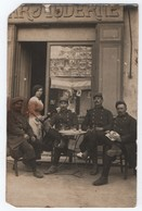 CPA PHOTO CAFE, BAR MODERNE, GUSTAVE PIGNOL, MILITAIRES, THEME COMMERCE, Avenue Jean Jaurès (?), GEMENOS - Other Municipalities