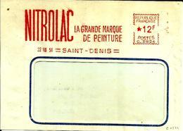 Lettre  EMA  Havas C 1956  Nitrolac La Grande Marque De Peinture Metier Chimie 75 Saint Denis C24/08 - Marcophilie (Lettres)