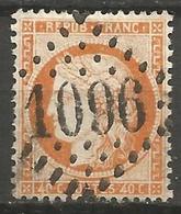 France - Napoleon III Et/ou Cérès - Oblitération Sur N°38 - GC 1096 CONCARNEAU (Finistère) - Marcophilie (Timbres Détachés)
