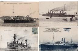 LOT 50 CPA - Bateau - Marine Militaire - Croiseur - Cuirassé - 5 - 99 Cartoline
