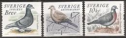 SUEDE 2004 (Yvert 2394-96) - Oiseaus Pigeons (MNH) Sans Trace De Charnière - 034 - Ungebraucht