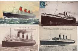 LOT 50 CPA - Bateau - Paquebot - Transatlantique - Steamer - 5 - 99 Cartoline