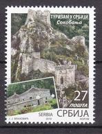 Serbia 2019 Tourism Sokobanja Nature Fortress Stamp MNH - Vacances & Tourisme