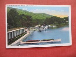 Hydroplane And The Beach  Lake George     NY >>  Ref 4028 - Lake George