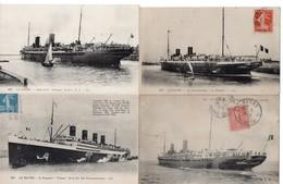 LOT 50 CPA - Bateau - Paquebot - Steamer - LE HAVRE - 5 - 99 Cartoline