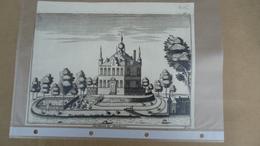 Flandria Illustrata  1735 - Antonius Sanderus  -  Steenhuize   ( Herzele ) - Obj. 'Souvenir De'