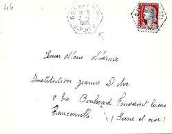 Lettre Cachet G7  De Gramat (Lot) C.P. N° 2  2 -I 1965 - Marcofilia (sobres)