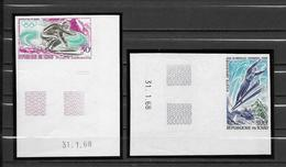 Tchad Série Complète Coin Datés Non Dentelé Imperf ND JO 68 ** - Invierno 1968: Grenoble