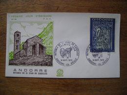 1972 Andorre FDC Premier Jour  N° 58 Rétable De St Jean De Caselles 0,50F - FDC