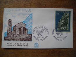 1972 Andorre FDC Premier Jour  N° 59 Rétable De St Jean De Caselles 0,90F - FDC