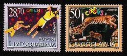 (!)  EUROPA CEPT De 2002  Thème Du Cirque  YOUGOSLAVIE  Y&T 2921/2922 Neuf(s) ** Mnh - 2002