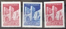 SUEDE / YT 520 - 521 / MONUMENT - RUINE VISBY - REMPART - HISTOIRE / NEUFS ** / MNH / COTE : 6.70 € - Ungebraucht