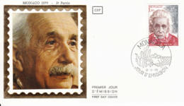 MONACO - 1979 - FDC - Enveloppe SOIE - Albert Einstein - Centenaire De Sa Naissance - FDC