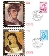 MONACO - 1975 - FDC - Lot De 2 Enveloppes SOIE - EUROPA - Europa-CEPT