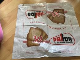 Publicité  Papier D'emballage La Véritable Biscotte Prior  Usine Marseille Et Lille - Publicités