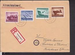Einschreibbrief Deutsches Reich Stempel Neustrelitz  1944 - Covers & Documents