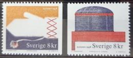 SUEDE / YT 2028 - 2029 / ARTISANAT - MOUFLE - BOITE EN ÉCORCE / NEUFS ** / MNH / COTE : 6.50 € - Schweden
