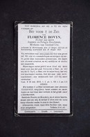 Doodsprentje Florence Bovyn. °Moortzele, +Moortzele. Dochter Van Beeckman, Wed. Use. - Décès