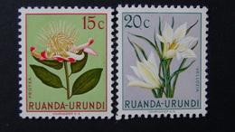 Ruanda-Urundi - 1953 - Mi:RW-U 134,135 Sn:RW-U 115,116 Yt:RW-U 178,179**MH - Look Scan - Ruanda-Urundi