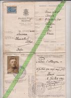 Reispaspoort 1929 Beroepsrenner Alfred Hamerlinck, Assenede, Wondelgem. Winnaar 800 Wedstrijden 1927-1939. - Documents Historiques