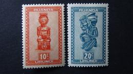 Ruanda-Urundi - 1948 - Mi:RW-U 109,111 Sn:RW-U 90,92 Yt:RW-U 154,156**MH - Look Scan - Ruanda-Urundi