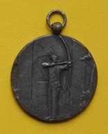 Médaille En Métal Blanc - Ville De Dampmart - Concours D'Arc - 11 Juillet 1926 - Tir à L'Arc