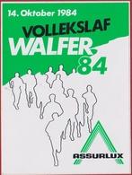 Vollekslaf Walfer 1984 Walferdange Bereldange Mullendorf Assurlux Sticker Adesivo Aufkleber Autocollant - Autocollants