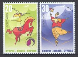 (!)  EUROPA CEPT De 2002  Thème Du Cirque  CHYPRE Y&T 998/999  Neuf(s) ** Mnh - 2002