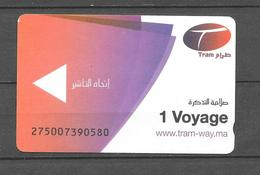 "Ticket Tramway. ""Rabat"" Maroc. (Voir Commentaires) - Wereld"