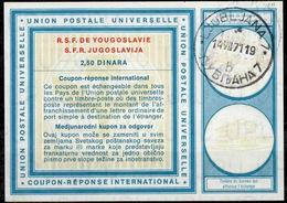 SLOVENIA / SLOVENIE / YUGOSLAVIA Vi192,50 DINARAInt. Reply Coupon Reponse Antwortschein IAS IRC O LJUBLJANA 14.7.71 - Slowenien