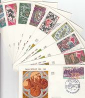 MONACO - 1969 - FDC - Lot De 9 Enveloppes Illustrées - Hector Berlioz (centenaire De Sa Mort) - FDC