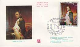 MONACO - 1969 - FDC - Enveloppe Illustrée - Poste Aérienne - Napoléon 1er - FDC