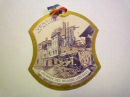 """GP 2020 - 2461  INSIGNE PAPIER  """" Journée Des Régions Libérées """" - 1914-18"""