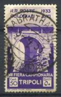 Libye 1933 Sass. 121 Oblitéré 40% 50 Cents - Libia
